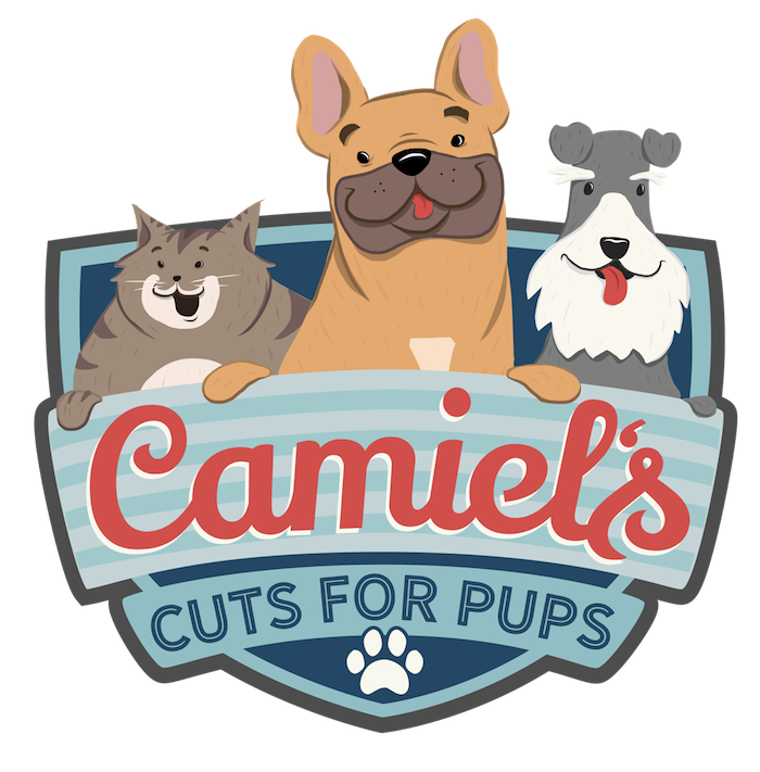 Camiels Cuts For Pups Logo Dog Grooming Los Angeles California